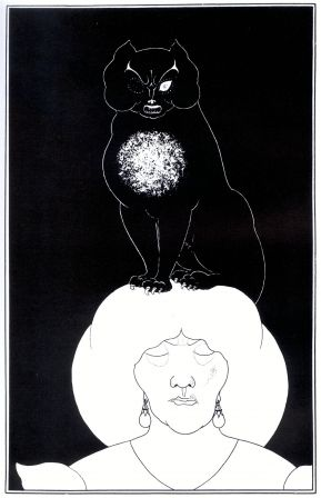 Black Cat, 1894 - 1895 by Aubrey Beardsley (1872 - 1898)